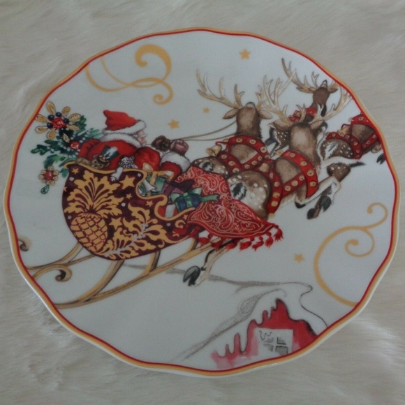 Williams Sonoma Christmas Plates.Williams Sonoma Twas Before Christmas Salad Plates Boutique